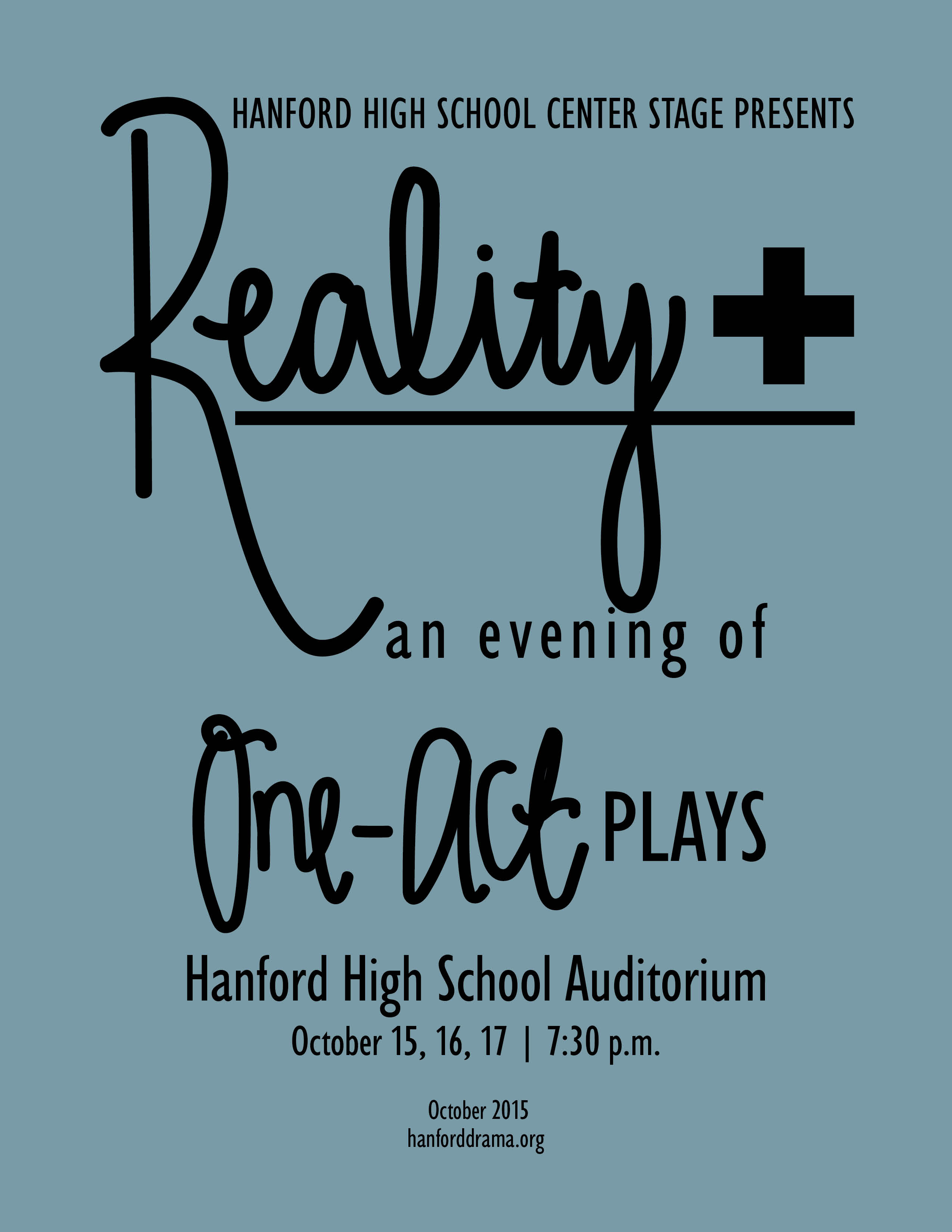 Reality+ an evening of one-act plays